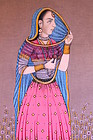 Indo/Persian Watercolor & Gouache Painting,