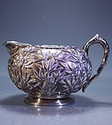 FINE ANTIQUE CHINESE EXPORT SILVER CREAMER,