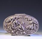 Continental Silver Tobacco Box, 18th century-style,
