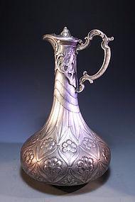 Large 19th C. European Silver Ewer,