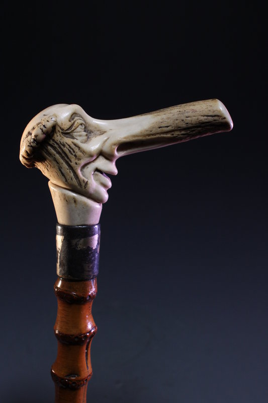Superb Carved Handle Cane,