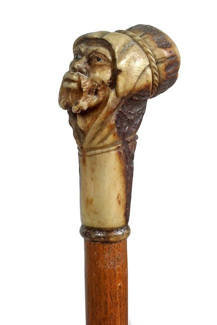 Bedouin Carved Stag Cane-Ca. 1935