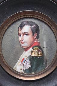 Miniature Portrait Painting of  Napoleon.