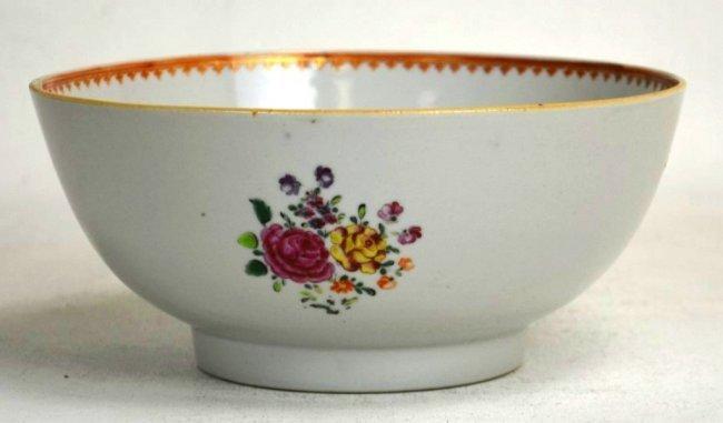 Chinese Export Famille Rose Enameled Porcelain Bowl.
