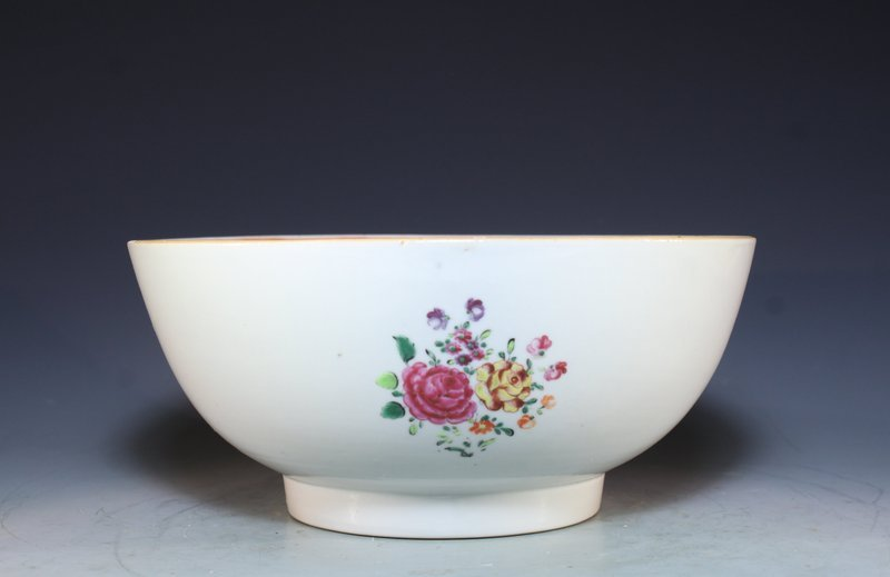 Chinese Export Famille Rose Enameled Porcelain Bowl.