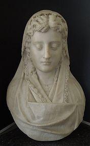 Superb 19TH c. Italian Marble Bust.