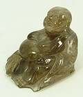 Fine Chinese Rock Crystal Carving; Buddha.