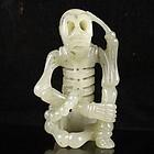 Fine Chinese Hetian Jade Carving; Skeleton.
