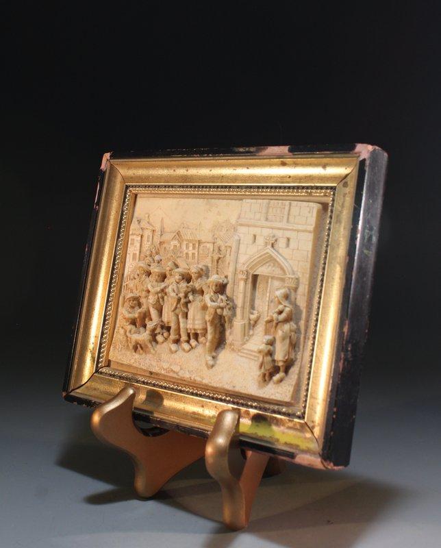 Antique Faux Ivory Carving.