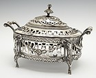 Antique German Silver Lidded Dresser Box, Ca 1795.