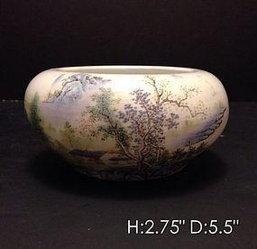Impressive Chinese Enameled Porcelain Bowl.