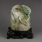 Chinese Natural Dushan Jade Carving.