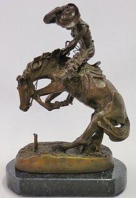 Bronze Sculpture, After F. Remington.