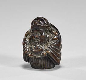 Antique Japanese Carved Wood Netsuke: Meiji Pd.