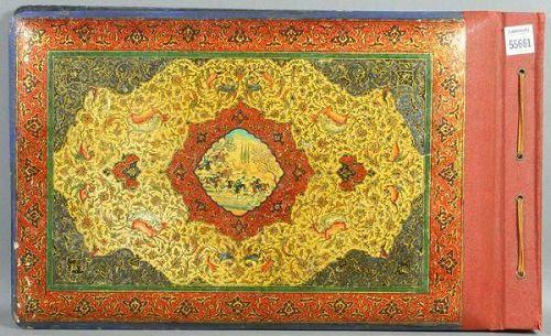 Late 19th C. Persian Style Photo Album