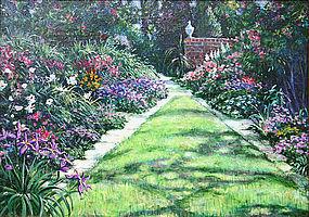 Albert Sharp painting - English Garden landscape