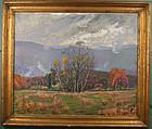 Kenneth Frazier painting, Autumn, Garrison, New York
