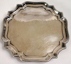 Augustine Courtauld silver waiter, Britannia standard