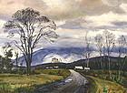 Ted Kautzky painting of Mount Washington, NH