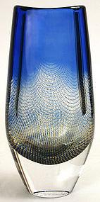 Orrefors Kraka art glass vase, Sven Palmquist