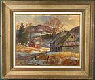 Harold Kloongian painting - Last of Winter, Vermont