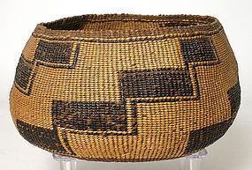 Native American Hupa storage basket