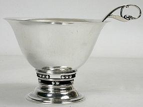 Georg Jensen sterling silver pedestal bowl and ladle
