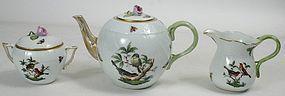 Herend Rothschild bird porcelain tea set