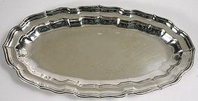 Birks sterling silver bread tray, Canada