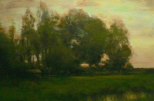 Dennis Sheehan painting - Fall Trees
