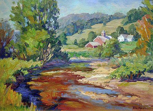 Eric Tobin painting - Idyllic Vermont, Waterville