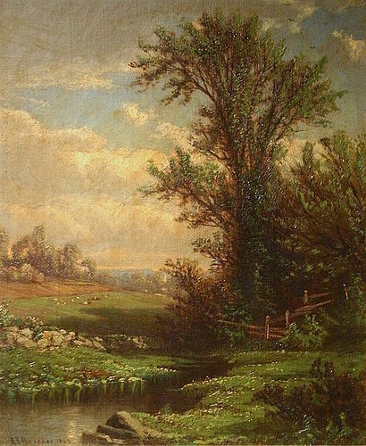 Alfred Thompson Bricher landscape painting - Spring