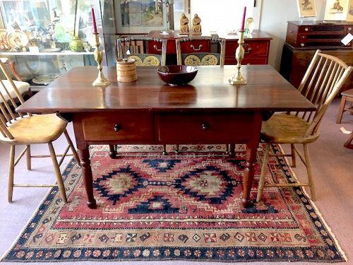 Pennsylvania antique walnut farm table