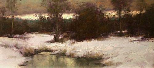Dennis Sheehan painting - Winter Twilight