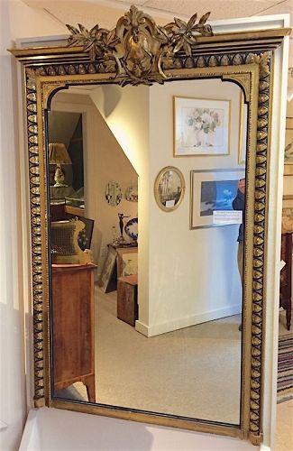 French Napoleon III era Neoclassical pier mirror