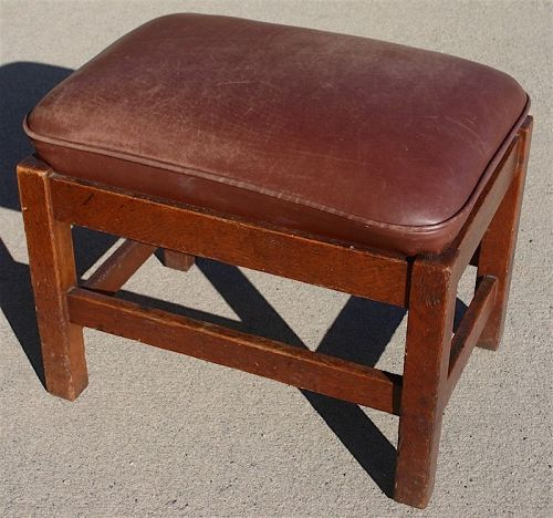 Gustav Stickley Arts and Crafts foot stool