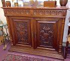European oak sideboard cabinet - Aesthetic Movement