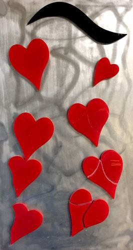 Lolo Sarnoff acrylic sculpture - Surching Heart