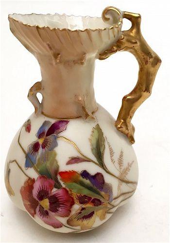 Royal Worcester porcelain small ewer