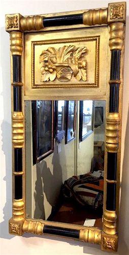 Federal split column looking glass mirror
