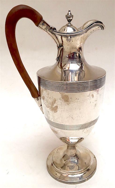 Georgian sterling silver wine jug, George Smith II