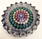 Perthshire PP53 concentric millefiori glass paperweight