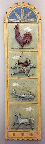 Folk art shooting gallery target board display