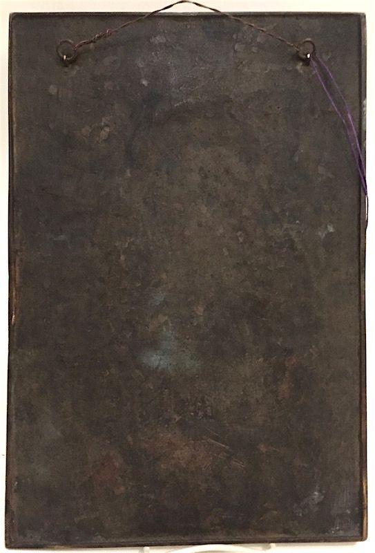 Bronze bas relief portrait plaque of William Makepeace Hastings