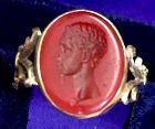 Antique Georgian intaglio cut portrait ring
