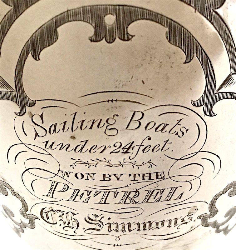 English sterling silver trophy goblet - Sailing Boats 1st Pl prize