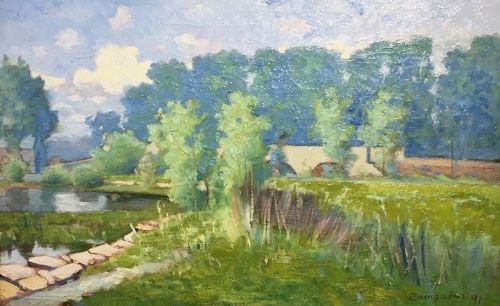 Alexis Comparet Impressionist landscape painting