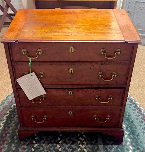 English Chippendale commode potty chest