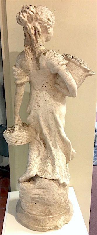 Antique marble garden statue of goddess Pomona