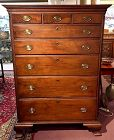 Early American Pennsylvania Chippendale tall chest